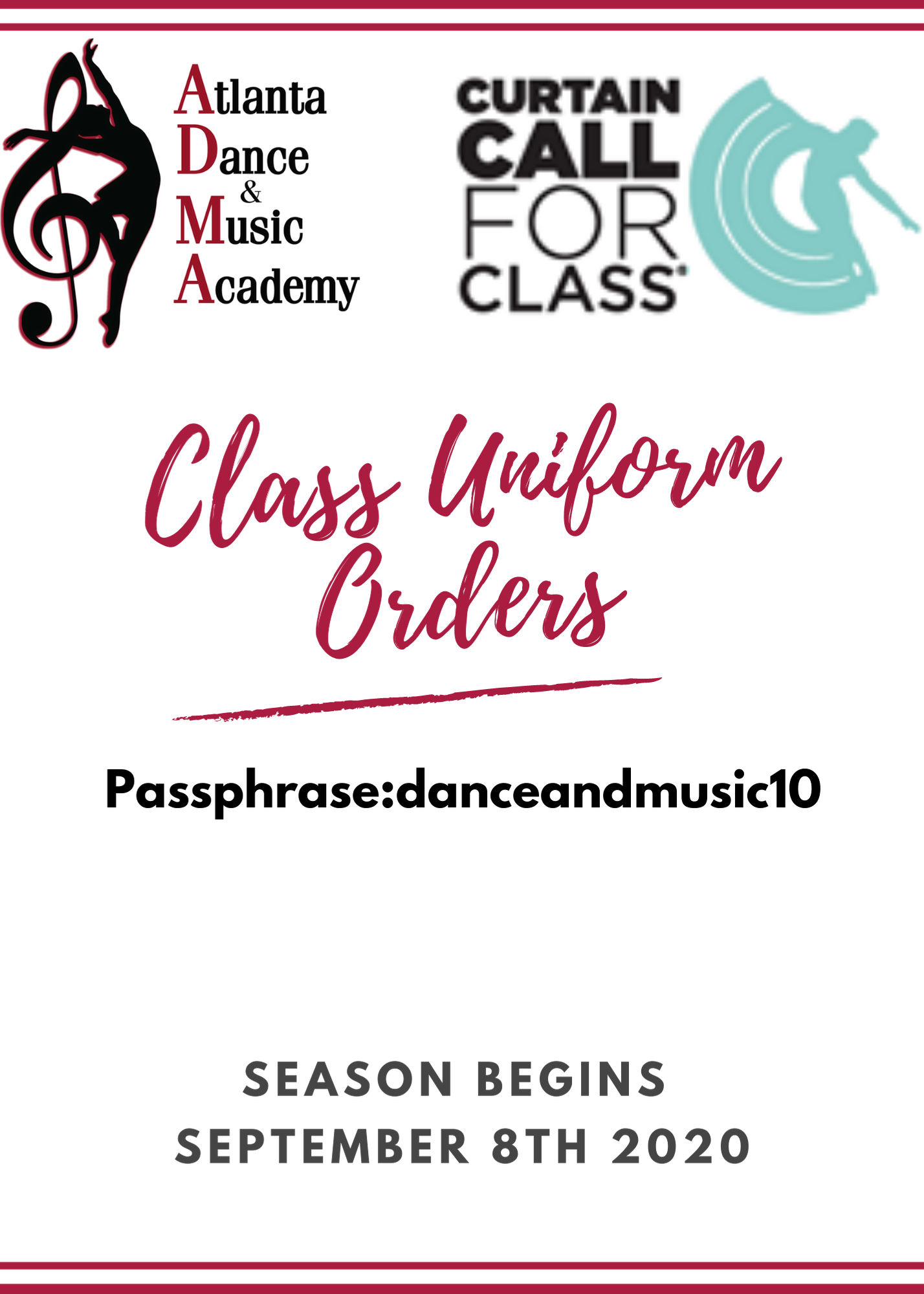 Curtain Call for Class Order